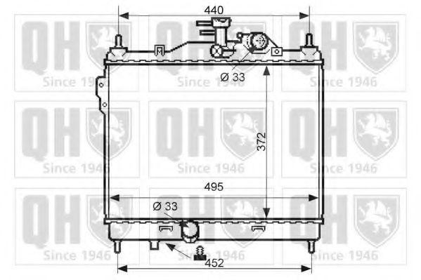 Радиатор, охлаждение двигателя QUINTON HAZELL QER2411