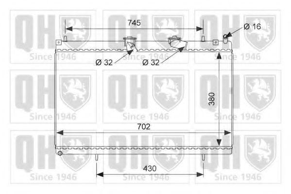 Радиатор, охлаждение двигателя QUINTON HAZELL QER2490