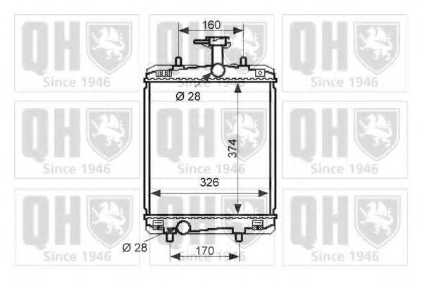 Радиатор, охлаждение двигателя QUINTON HAZELL QER2523