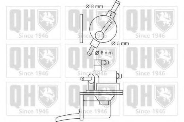 Топливный насос QUINTON HAZELL QFP138