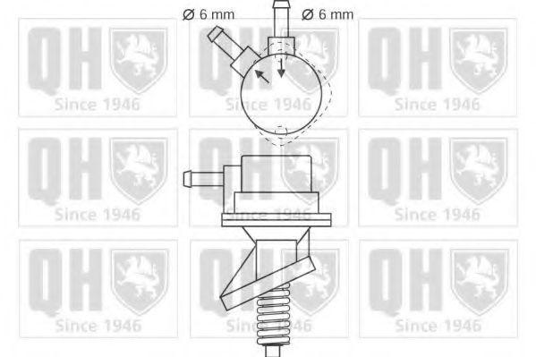 Топливный насос QUINTON HAZELL QFP17