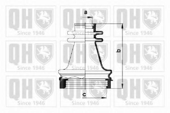 Комплект пылника, приводной вал QUINTON HAZELL QJB1004