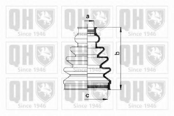 Комплект пылника, приводной вал QUINTON HAZELL QJB1008