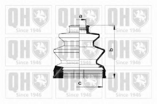 Комплект пылника, приводной вал QUINTON HAZELL QJB1014