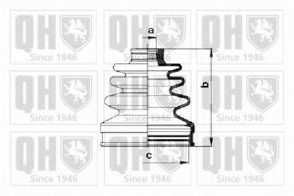 Комплект пылника, приводной вал QUINTON HAZELL QJB1017