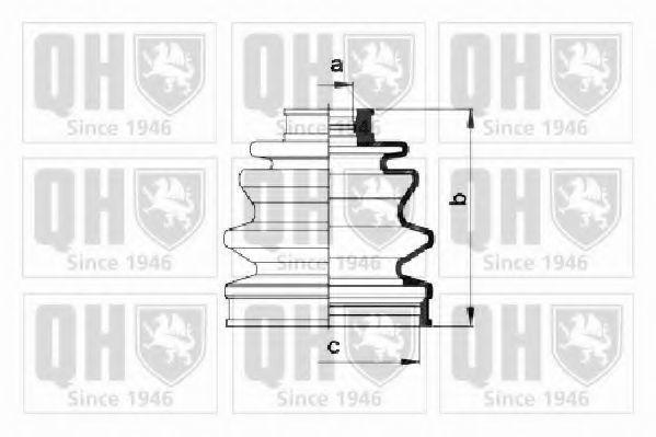 Комплект пылника, приводной вал QUINTON HAZELL QJB102