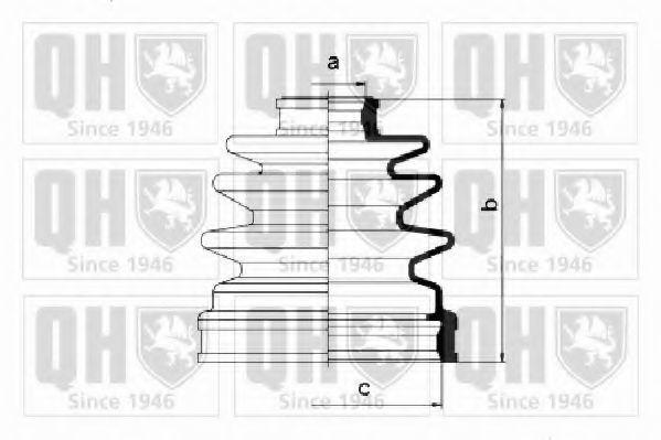 Комплект пылника, приводной вал QUINTON HAZELL QJB1033
