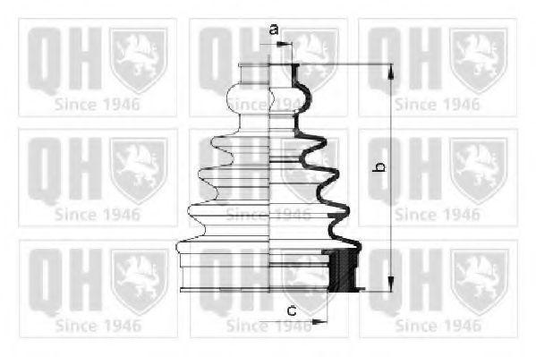 Комплект пылника, приводной вал QUINTON HAZELL QJB1037