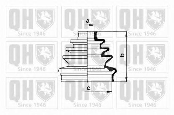 Комплект пылника, приводной вал QUINTON HAZELL QJB1040