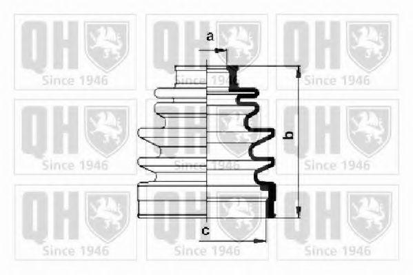Комплект пылника, приводной вал QUINTON HAZELL QJB105