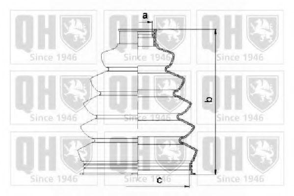 Комплект пылника, приводной вал QUINTON HAZELL QJB1059