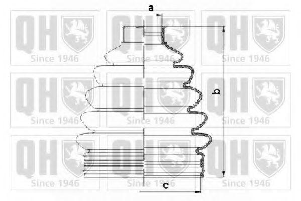 Комплект пылника, приводной вал QUINTON HAZELL QJB1063