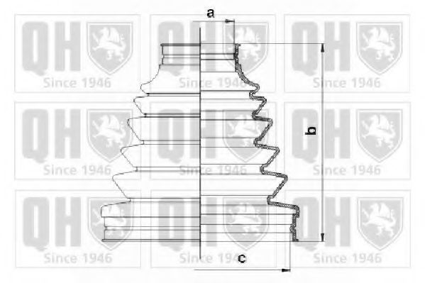 Комплект пылника, приводной вал QUINTON HAZELL QJB1065