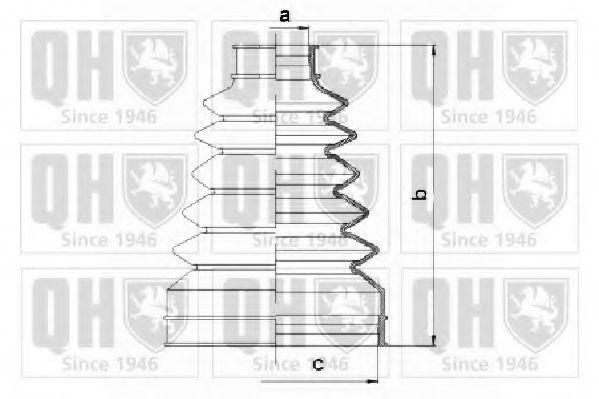Комплект пылника, приводной вал QUINTON HAZELL QJB1074