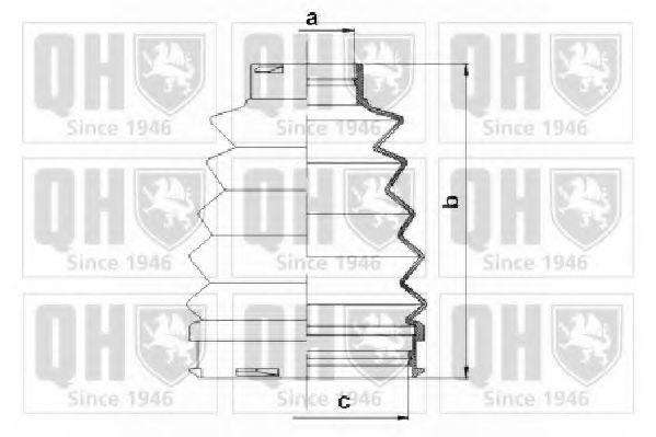 Комплект пылника, приводной вал QUINTON HAZELL QJB1085