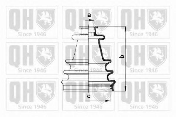 Комплект пылника, приводной вал QUINTON HAZELL QJB109