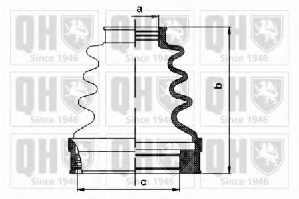 Комплект пылника, приводной вал QUINTON HAZELL QJB1107