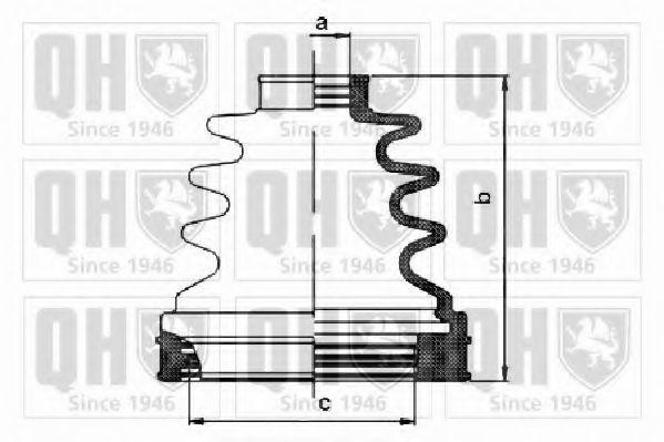Комплект пылника, приводной вал QUINTON HAZELL QJB1108