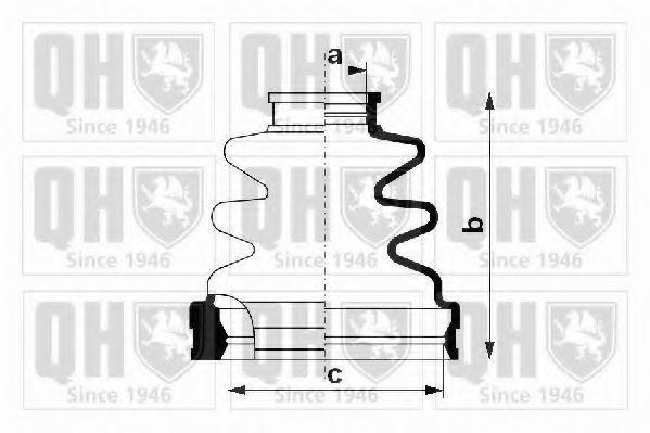 Комплект пылника, приводной вал QUINTON HAZELL QJB1151