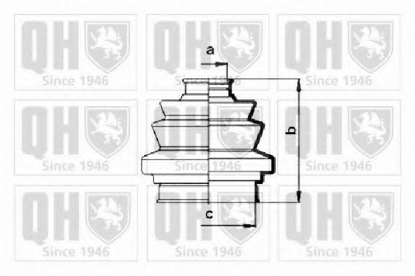 Комплект пылника, приводной вал QUINTON HAZELL QJB122