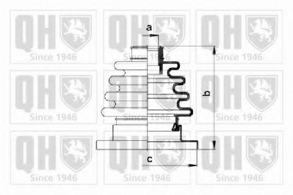 Комплект пылника, приводной вал QUINTON HAZELL QJB125