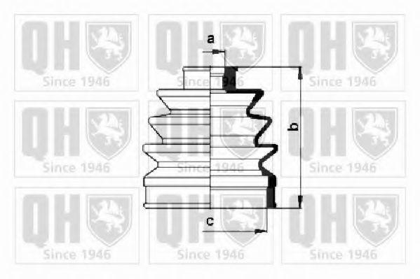 Комплект пылника, приводной вал QUINTON HAZELL QJB127