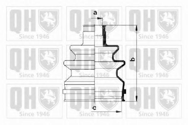 Комплект пылника, приводной вал QUINTON HAZELL QJB134