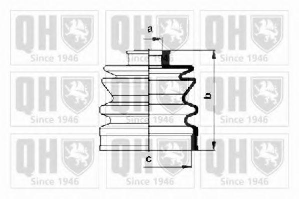 Комплект пылника, приводной вал QUINTON HAZELL QJB151