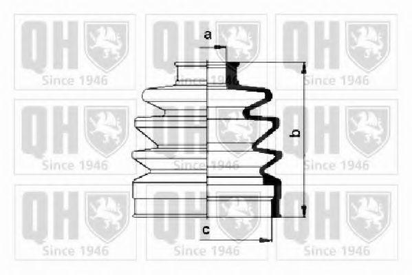Комплект пылника, приводной вал QUINTON HAZELL QJB152