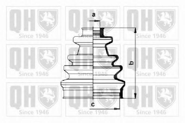 Комплект пылника, приводной вал QUINTON HAZELL QJB153