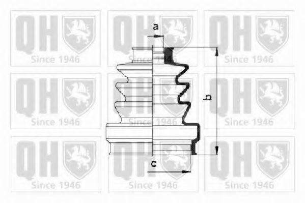 Комплект пылника, приводной вал QUINTON HAZELL QJB165