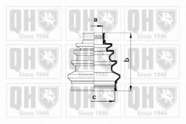 Комплект пылника, приводной вал QUINTON HAZELL QJB174
