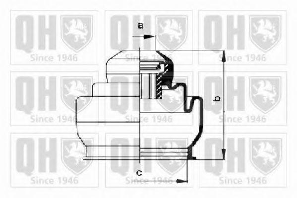 Комплект пылника, приводной вал QUINTON HAZELL QJB176