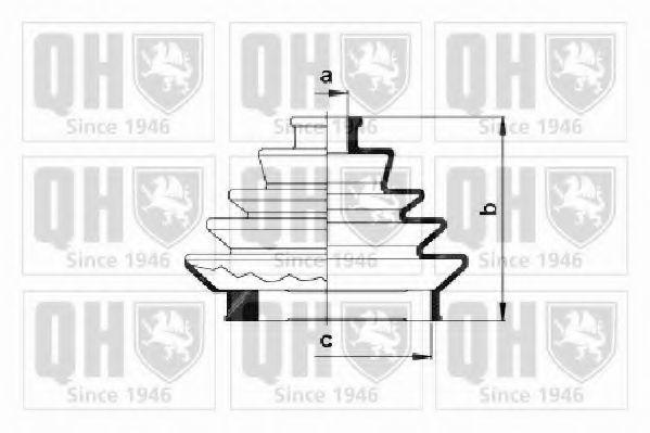 Комплект пылника, приводной вал QUINTON HAZELL QJB188