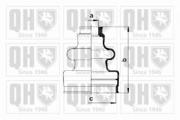 Комплект пылника, приводной вал QUINTON HAZELL QJB191
