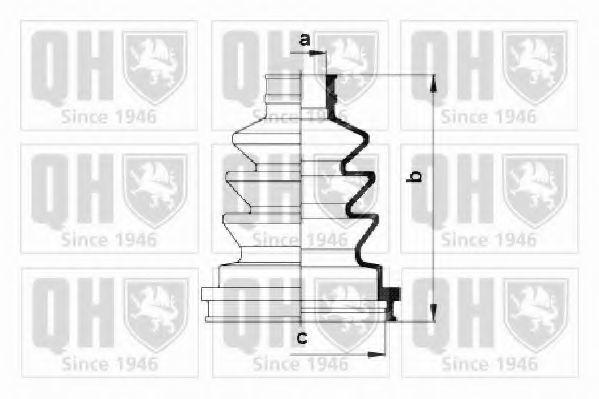 Комплект пылника, приводной вал QUINTON HAZELL QJB194