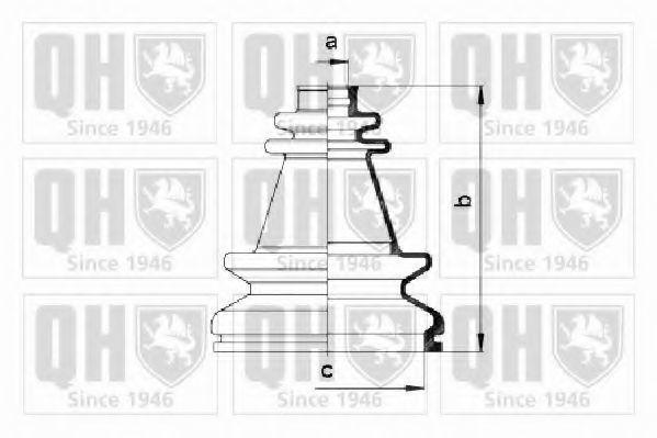 Комплект пылника, приводной вал QUINTON HAZELL QJB195
