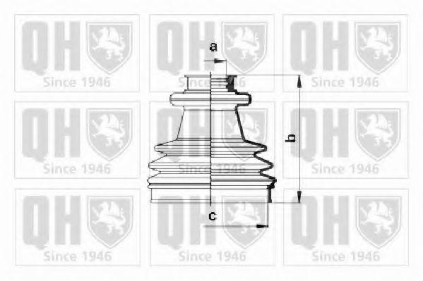 Комплект пылника, приводной вал QUINTON HAZELL QJB198