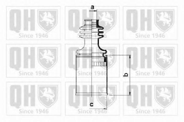 Комплект пылника, приводной вал QUINTON HAZELL QJB205