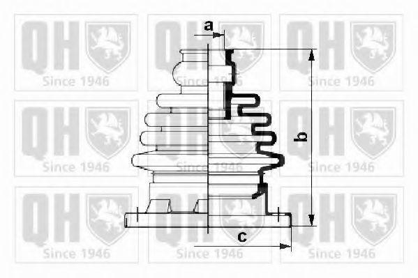 Комплект пылника, приводной вал QUINTON HAZELL QJB216K