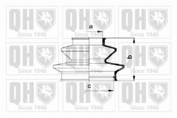 Комплект пылника, приводной вал QUINTON HAZELL QJB2185
