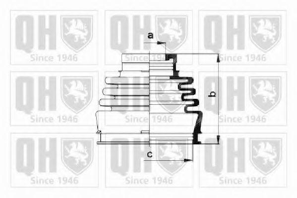 Комплект пылника, приводной вал QUINTON HAZELL QJB220