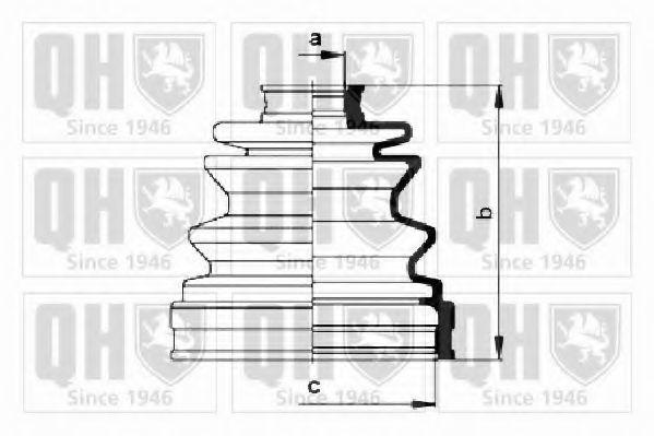 Комплект пылника, приводной вал QUINTON HAZELL QJB223