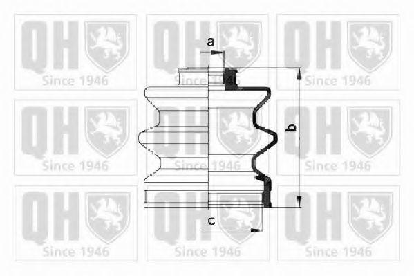 Комплект пылника, приводной вал QUINTON HAZELL QJB224