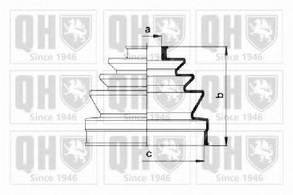 Комплект пылника, приводной вал QUINTON HAZELL QJB2505