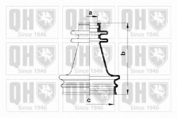 Комплект пылника, приводной вал QUINTON HAZELL QJB252
