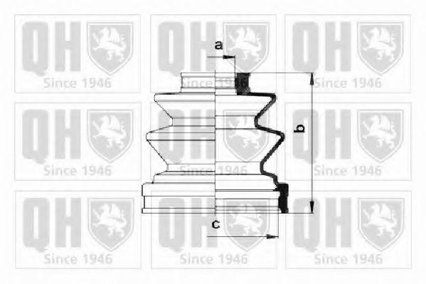 Комплект пылника, приводной вал QUINTON HAZELL QJB253