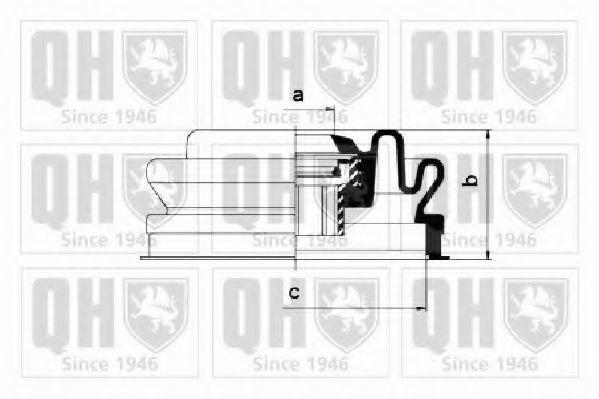 Комплект пылника, приводной вал QUINTON HAZELL QJB260