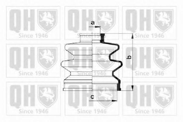 Комплект пылника, приводной вал QUINTON HAZELL QJB2600