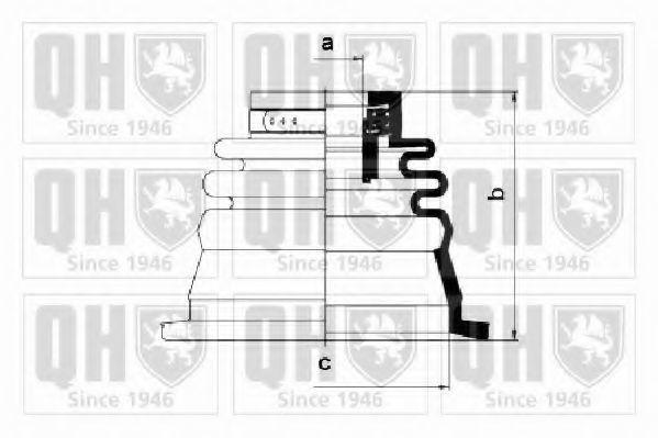 Комплект пылника, приводной вал QUINTON HAZELL QJB2628